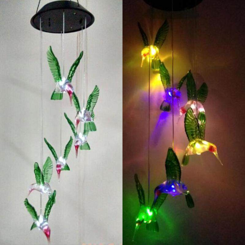 Solar Lamp Color Changing LED Wind Chimes Light Outdoor Home Garden Decor