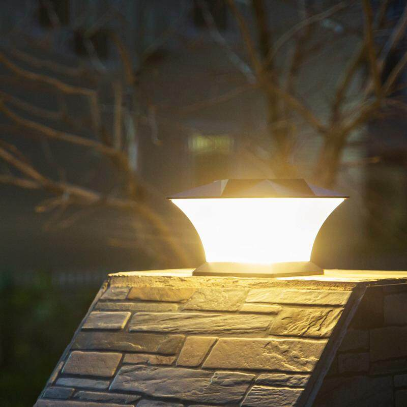 Solar Power 18 LED Waterproof Pillar Light Garden Lawn Landscape Decoration Lamp - intl