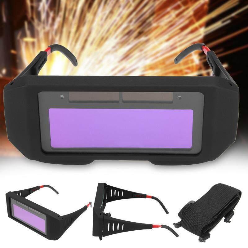 Solar Power Auto Darkening Welding Mask Helmet Eyes Shield Goggle Welder Glasses Black