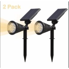 Solar Spotlight, IP65 Waterproof 4 LED Solar Lights Wall Light,Auto-on/Off Security Light Landscape Light 180° angle Adjustable for Tree,Patio,Yard,Garden,Driveway,Pool Area.(2 Pack)