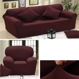 Sale Solid Stretch Sectional Sofa Soft Slipcovers Elastic Couch Cover For Four Seats Online On China