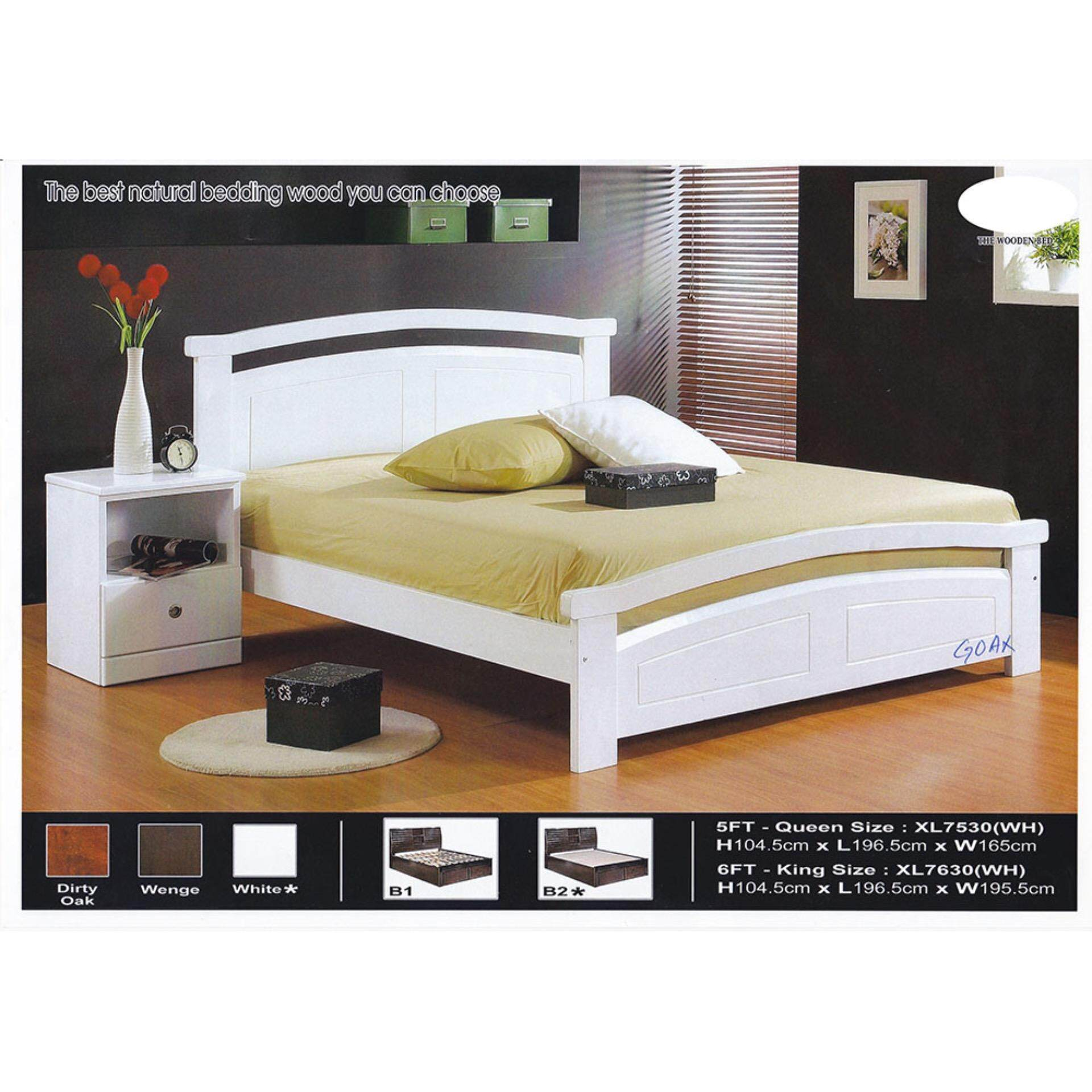 Solid Wood Strong Queen Size Wooden Bed Frame L1965MM X W1650MM X H1045MM Pre-Order 2 Week