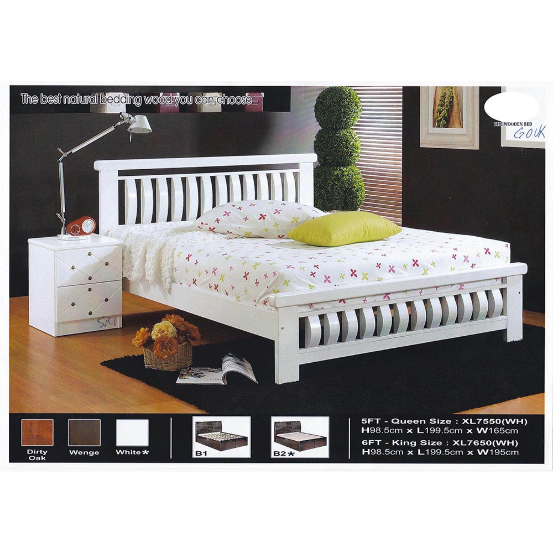 Solid Wood Strong Queen Size Wooden Bed Frame L1995MM X W1650MM X H985MM Pre-Order 2 Week
