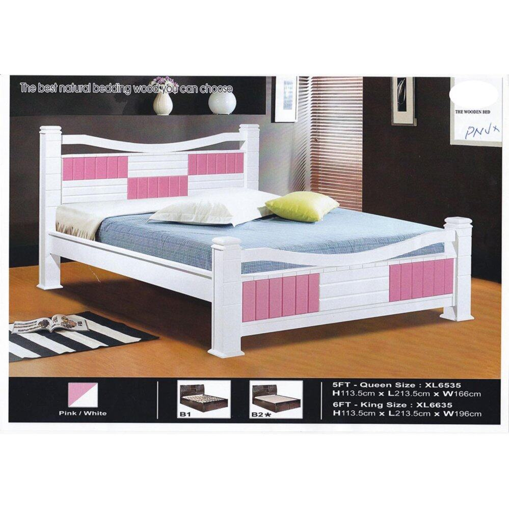 Solid Wood Strong Queen Size Wooden Bed Frame L2135MM X W1135MM X H1080MM Pre-Order 2 Week