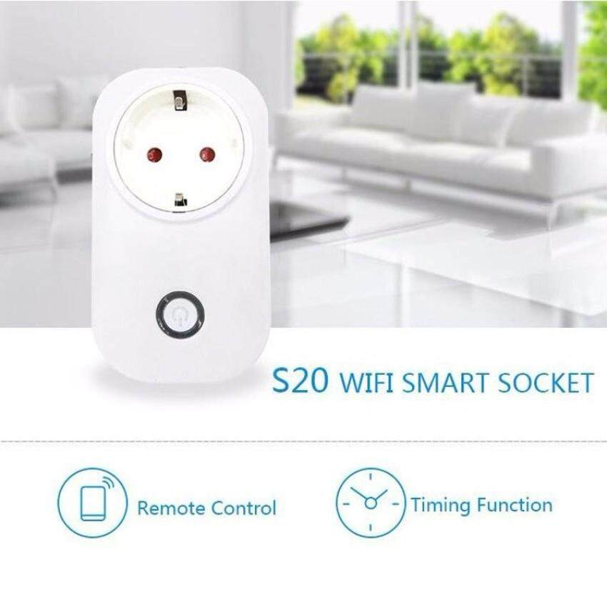 Sonoff Itead S20 Wireless 2/3/4G WiFi Smart Timer APP RemoteControl Power Switch Socket UK Plug - intl