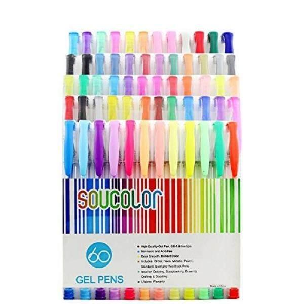 Soucolor 60 Gelstift Gel Pens Gel Pens f¨¹r Malbuch, Zeichnung, F?rbung, Kritzeln und Skizzieren - intl