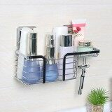 Latest Stainless Steel Bath Shampoo Holder Shower Basket Shelves With Soap Dishes Hooks