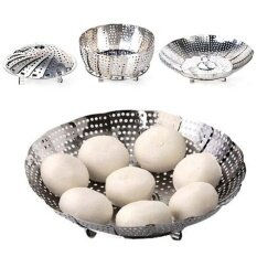 Stainless Steel Folding Mesh Dish Vegtable Food Steamer Basket Bowl Cooker By Yiuu