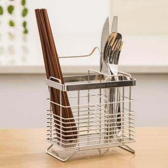 สแตนเลสเครื่องใช้ในครัวส้อมที่วางช้อนและตะเกียบที่ใส่ช้อนส้อม Organizer-