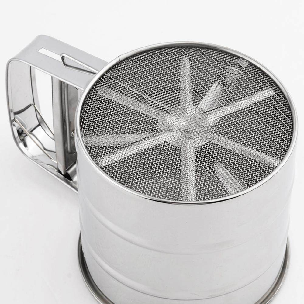 Stainless Steel Mesh Flour Sifter Mechanical Baking Icing Sugar Shaker Sieve Cup - Intl By Tomtop.