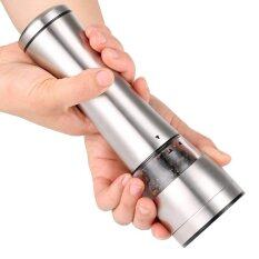 Stainless Steel Pepper Sea Salt Mill Manual Grinder By All About Home