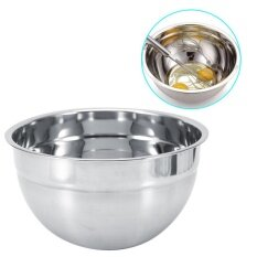 Stainless Steel Thicker Mixing Bowl With Lid Baking Salad Bowls Kitchen Cooking Tools(24cm) By Highfly.