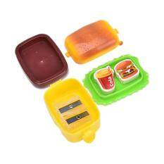 Mua Stationery Hamburger Pencil Sharpener with Two Rubbers Eraser Student Kids