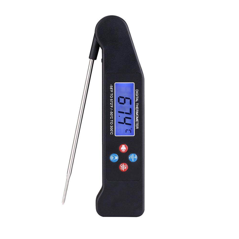 lanyasy Cooking Voice Thermometer Folding Probe Digital Instant Read Meat Thermometer BBQ Grilling Oven Thermometer,