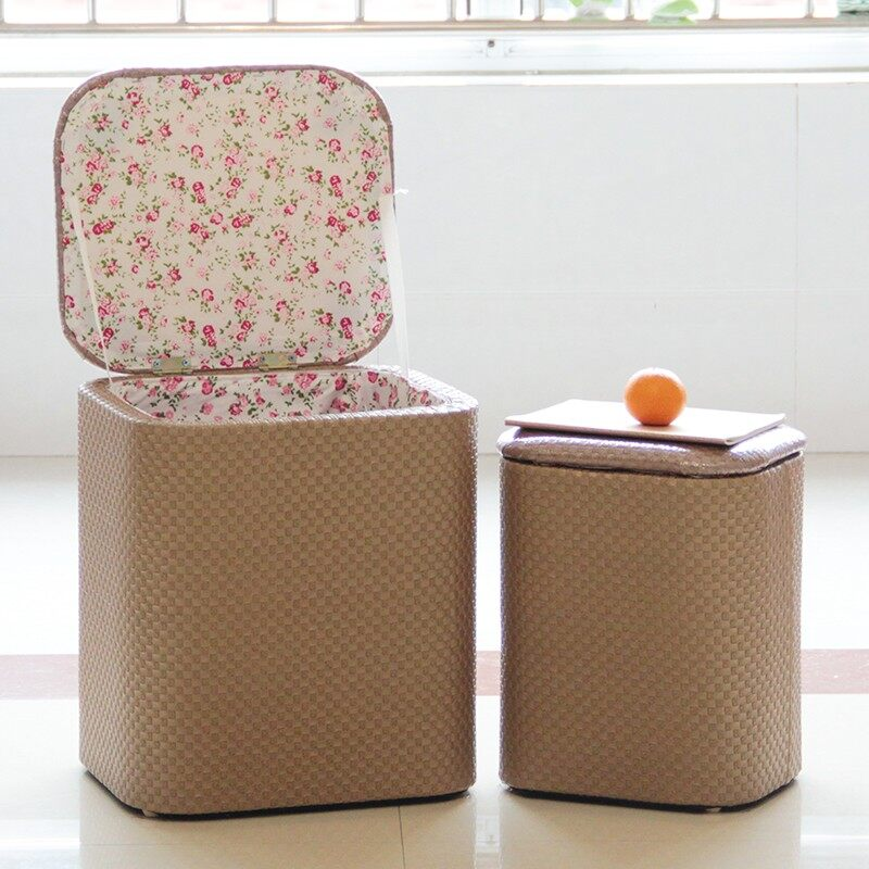 Storage Stool Multifunctional Sofa Stool Toys Storage and Finishing Box Change Shoes Chair Thickening Soft Storage Box One Packages - intl