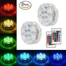 Submersible LED Lights Underwater Vase Light Remote Control RGB Multi Color Changing Waterproof Candle Diving Light for Event Party and Home Decoration 10 LED(2 PCS)