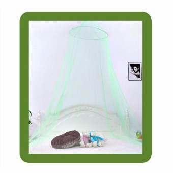 ฤดูร้อนโดมเจ้าหญิงตาข่ายกันยุงเพดานกลมเตียงแขวน Nets สี: สีเขียว-