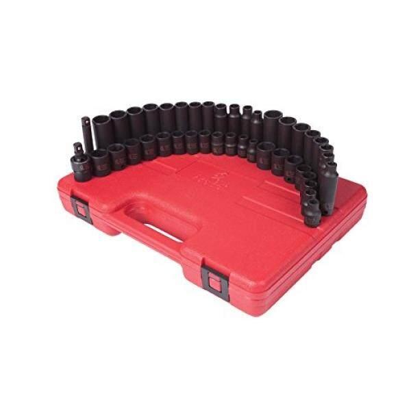 Sunex 3342 3/8-Inch Drive Master Soket Benturan Set Inci/Metrik Standar