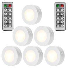 Sunnyshop6 Packed Led Puck Lights Remote Controlled Closet Lights Super Bright Under Cabinet Lighting Round Shape Battery Powered Dimmable Light Cheap