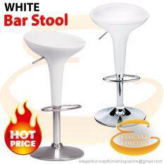 (super Deal) Export Quality Ergonomical Bar Stool (white) With Adjustable Height (2 Units) By Elegant Concept.