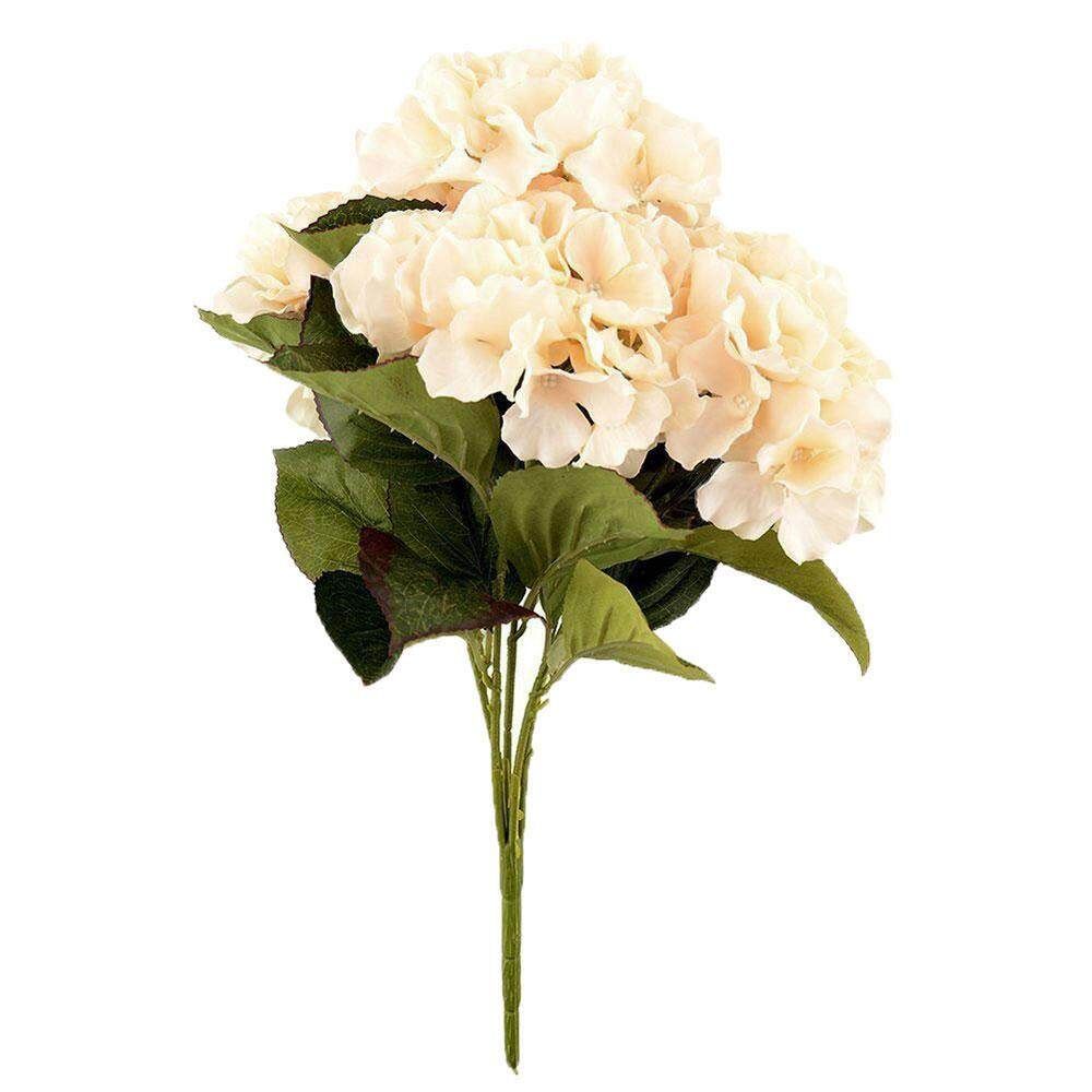 svoovs Artificial Hydrangea Flower 5 Big Heads Bounquet Home Party Wedding Decor(Champagne) - intl
