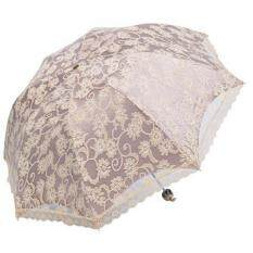 svoovs Compact Lace Wedding Parasol Folding Travel Sun Umbrella UV Block (Apricot)