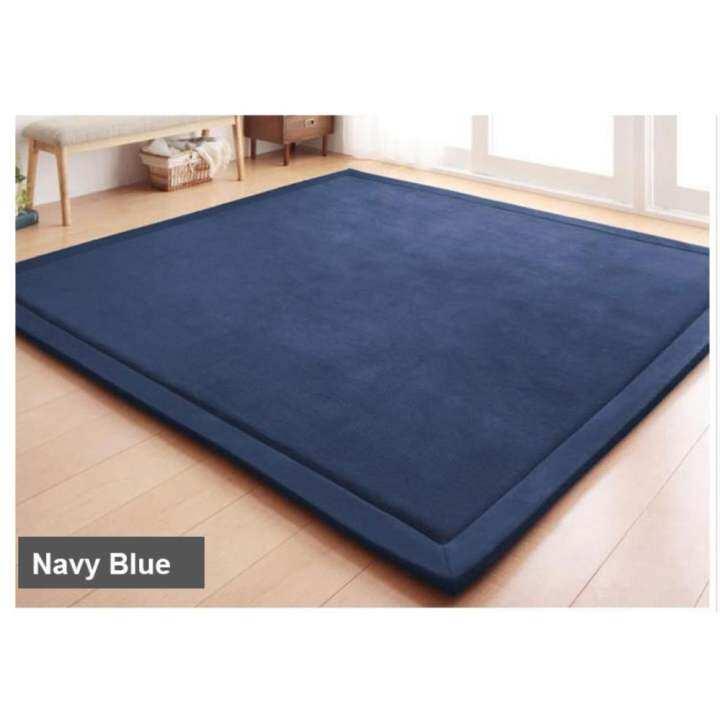 Velvet Soft Rugs In Natural Beige: Sweet Home Extra LARGE Japanese Carpet Tatami Floor Mat