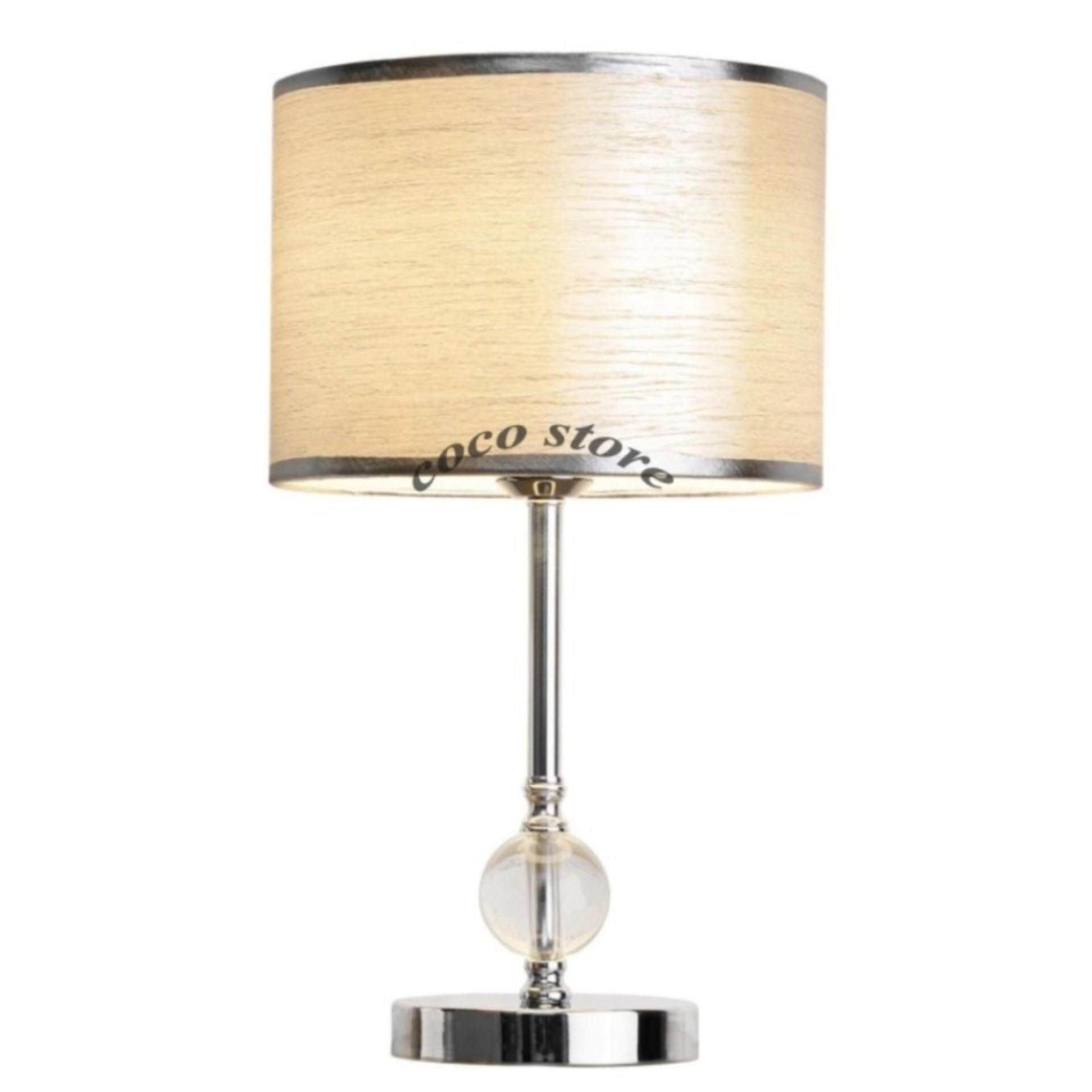 Table Lamp COCO STORE Modern Simple Crystal Desk Lamp European Style  Decorative Light Push Button Switch