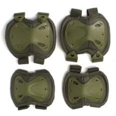 Tactical Airsoft Combat -protective Skate Knee Pads Adjustable Knee & Elbow Pad Green