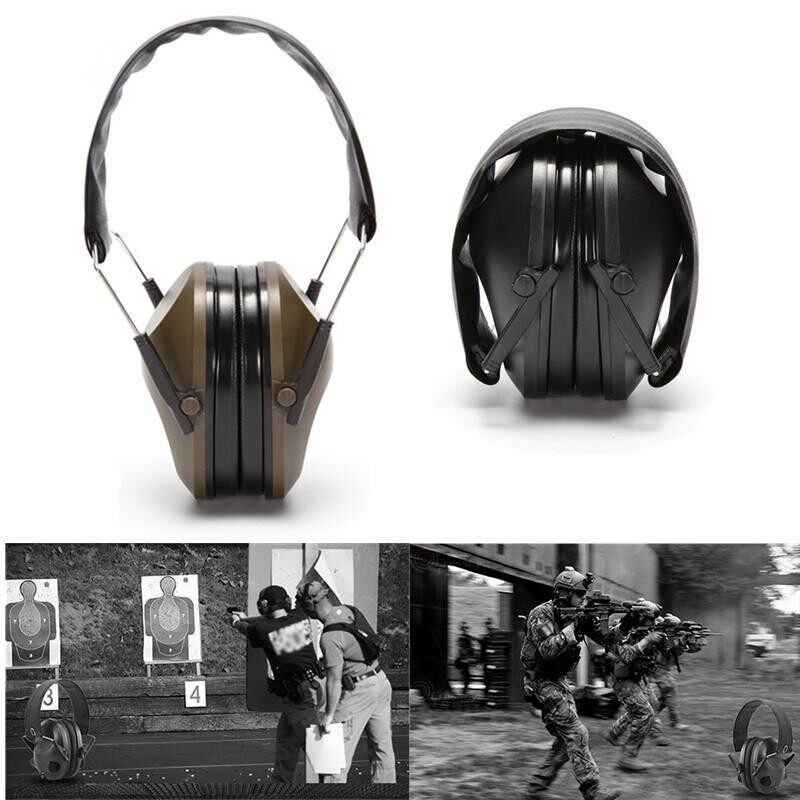 Tactical Outdoor Hunting Anti-noise Earmuffs Shooting Hearing Earmuff Protector Black