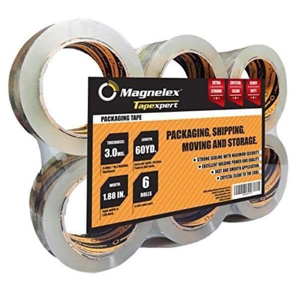 Tapexpert Premium Lakban Pengemasan Yang Lebih Tebal dan Lebih Keras 3.0Mil. 6 Gulungan dengan