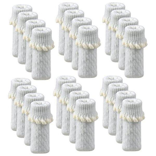 Tekeft 24 Pcs/pack Kursi Pelindung, Pelindung Furnitur dengan Tidak Tergelincir Strip Di Dalam Kursi Kaki Pelindung Lantai, anti Selip Kursi Kaus Kaki untuk Lantai Kayu (Putih)-Internasional