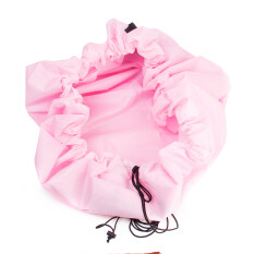 The 150cm Portable Kids Toy Storage Bag Play Mat Pink.
