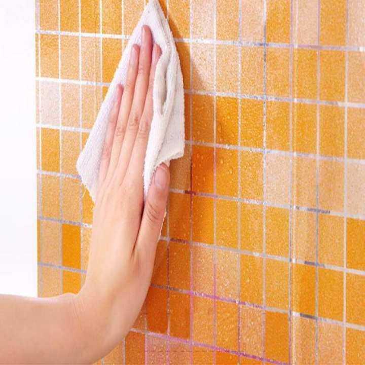 The bathroom toilet waterproof self-adhesive stickers mosaic tile wallpaper