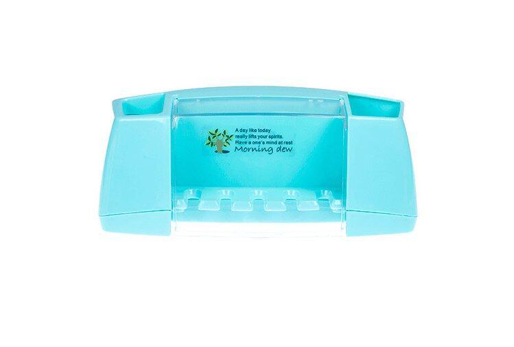 The Creative Strength Of Paste Type Multifunctional Toothpaste Toothbru Holder Bathroom Toiletries Storage Rack-Blue