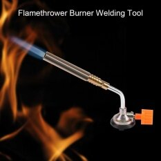 TMISHION Flamethrower Burner Butane Blow Torch Hand Ignition Camping Welding BBQ