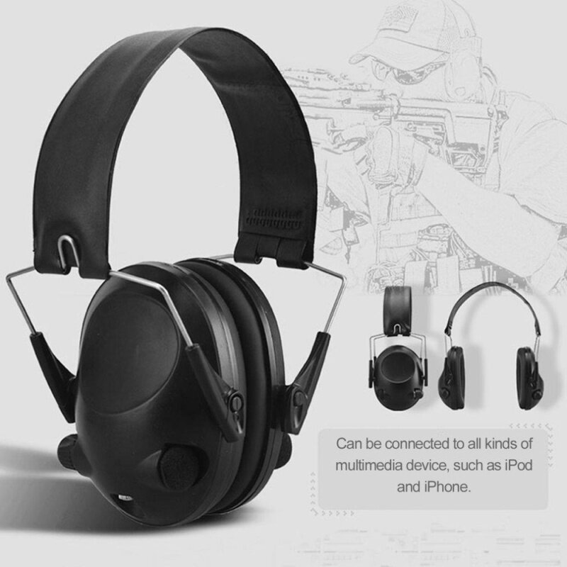 Top TAC 6s Anti-Noise Tactical Shooting Headset Sport Hunting Earmuff Headphone