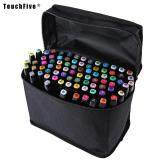 Low Price Touch Five Colors Graphic Art Twin Tip Marker Pen Color Black Size 80Pcs