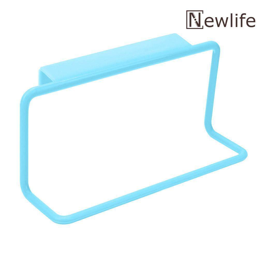 Newlifestyle Towel Rack Hanging Holder Cupboard Kitchen Cabinet Bathroom Towel Rack(Blue) - intl(Blue)