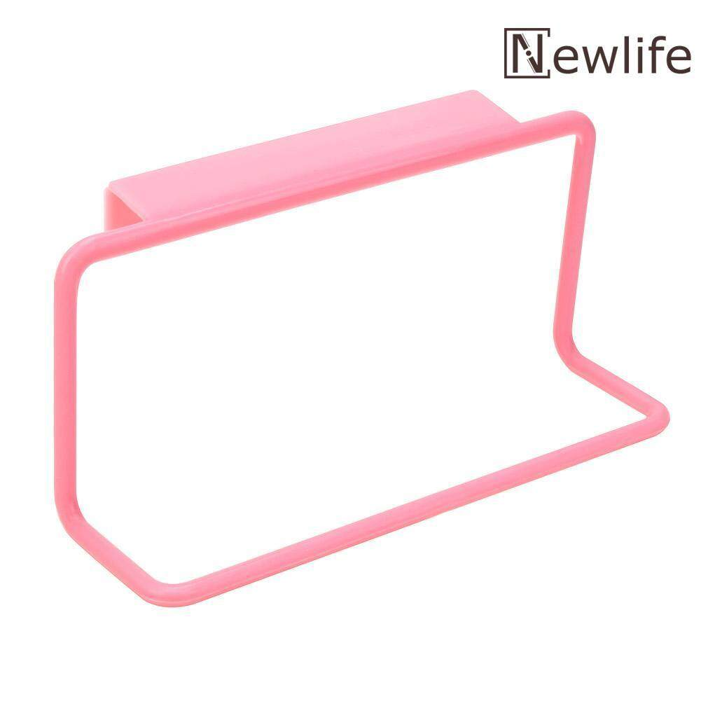 Newlifestyle Towel Rack Hanging Holder Cupboard Kitchen Cabinet Bathroom Towel Rack(Pink) - intl(Pink)