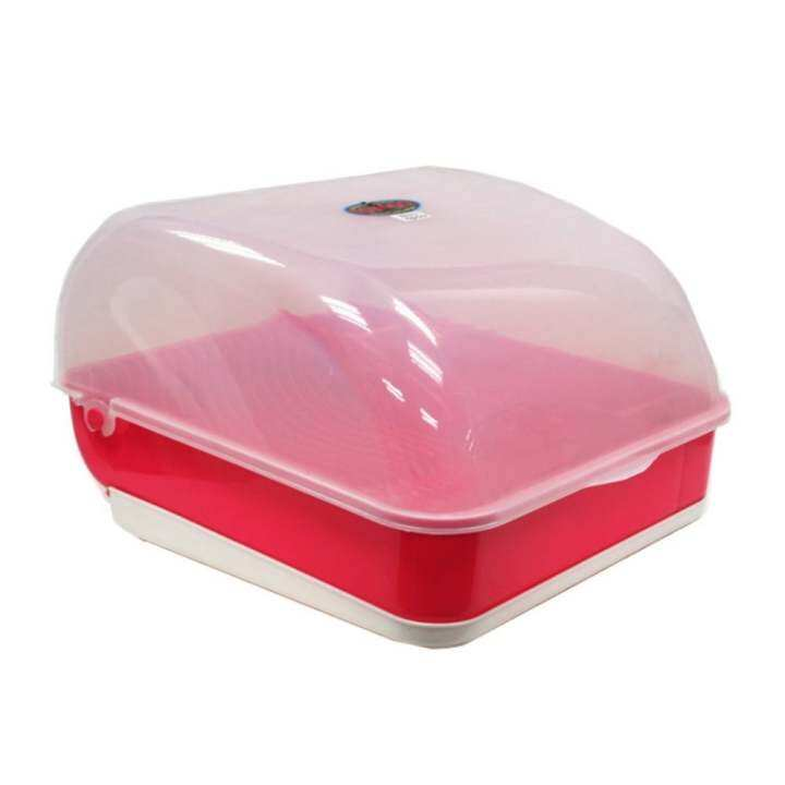 toyogo apollo dish drainer with cover lazada. Black Bedroom Furniture Sets. Home Design Ideas