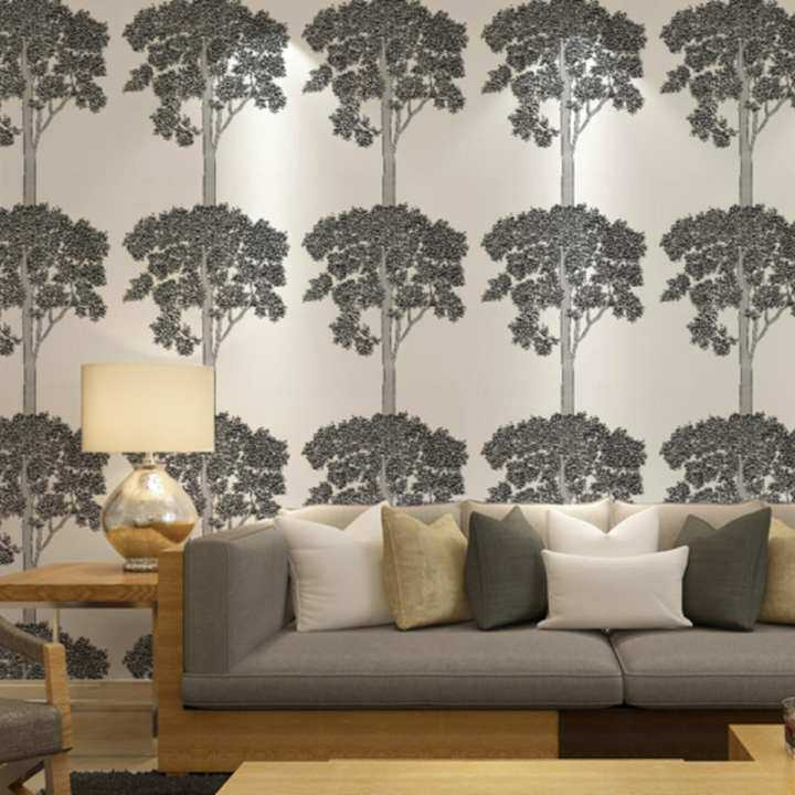 Trees/Leaves Wallpaper Contemporary Wall Covering , Non-woven Paper Modern Minimalist