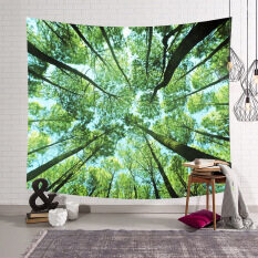 Tapestry JT 200*150cm Treetop & Sky Tapestry Wall Hanging Carpet Beach Towel Blanket Yoga Mat Bohemian
