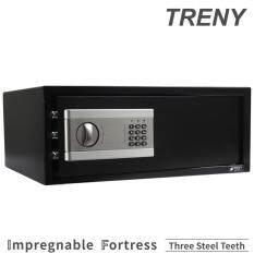 TRENY Three Steel Electronic Hotel Laptop Safe Box/Safety Box EC2050