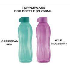 Tupperware Brands Eco Bottle 750ml Set of 2 Caribbean Sea Wild Mulberry
