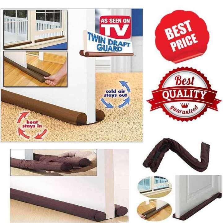 Twin Draft Door Guard Blocking Dust Adjustable Door Clean