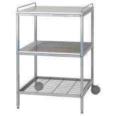 UDDEN Kitchen trolley  silver-colour  stainless steel