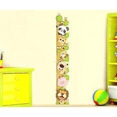 Ufengke Cartoon Cute Cat Lion Panda Height Chart Decals(0Cm-180Cm), Childrens Room Nursery Removable Wall Stickers Murals