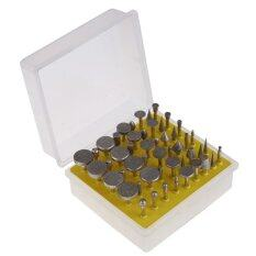 UJS 50PCS Diamond Tipped Coated Rotary Grinding Head Jewelry Lapidary Burrs