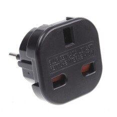UK to EU AC Power Plug Adapter Socket Converter (Black)